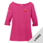 DM107L - EMB - Ladies Perfect Weight 3/4 Sleeve T-Shirt